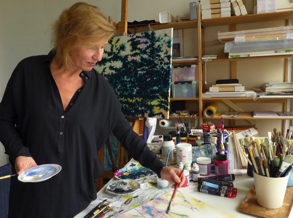 Pamela maria making art